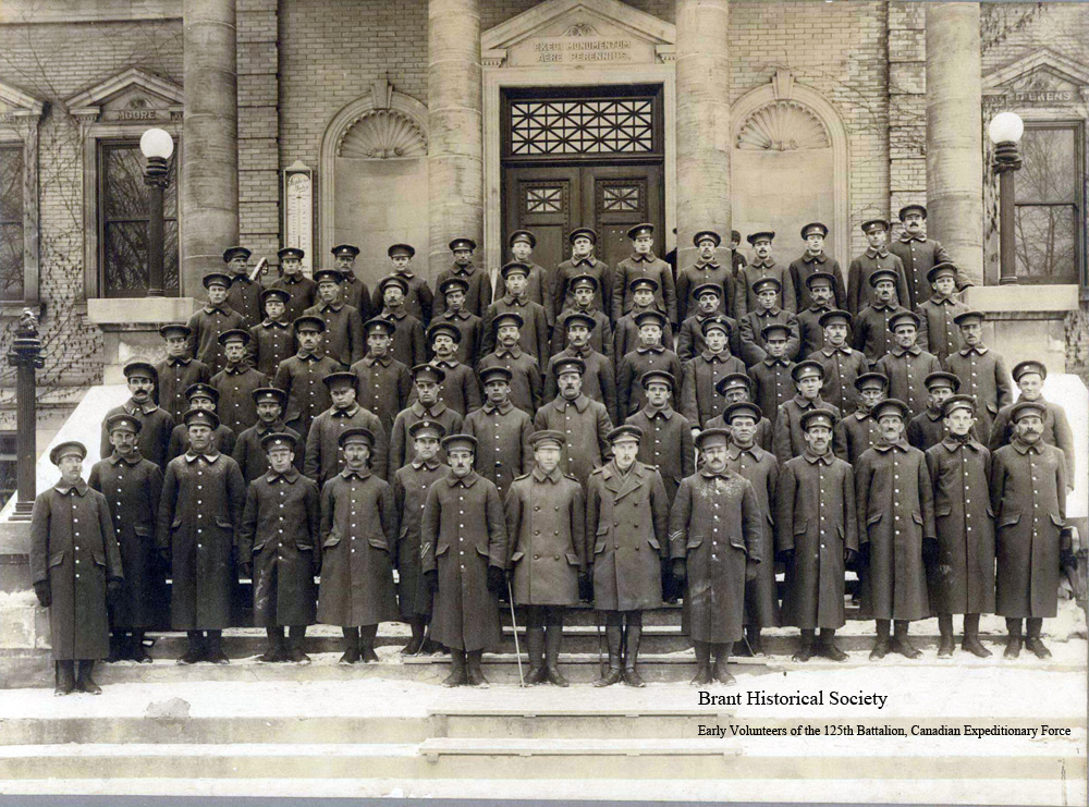 125th Battalion Canadian Expeditionary Force, Brantford, Ontario 1915