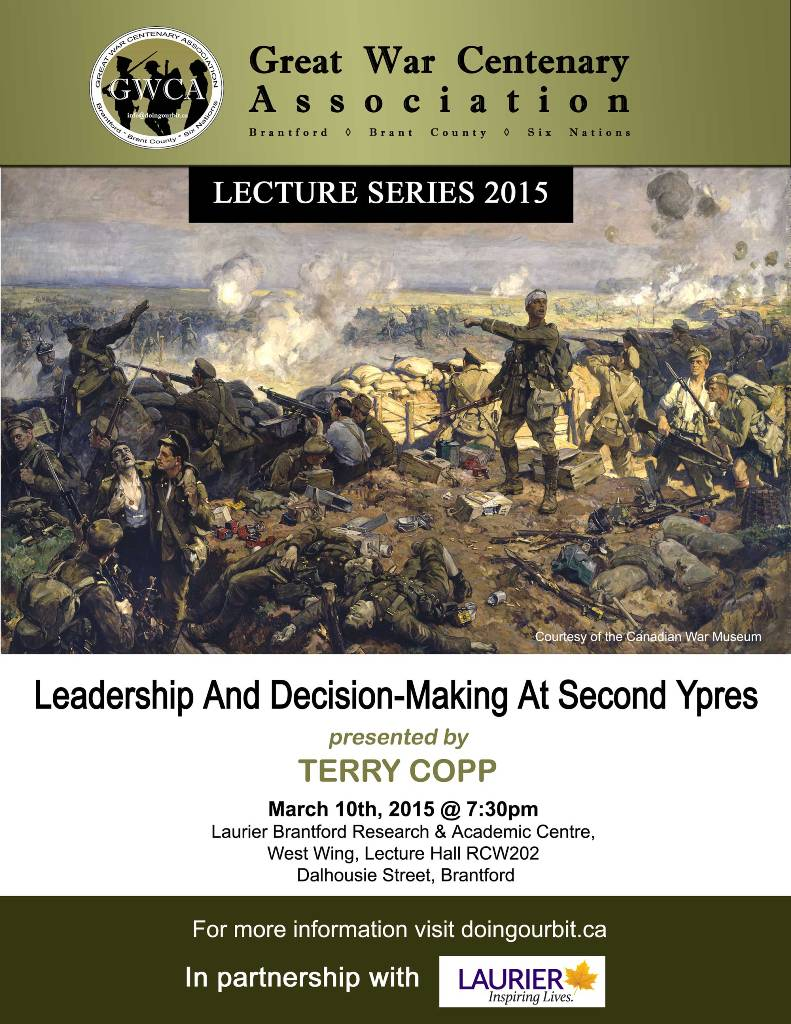 Great War Centenary Association - Brantford, Brant County, Six Nations - First World War - Lecture Series