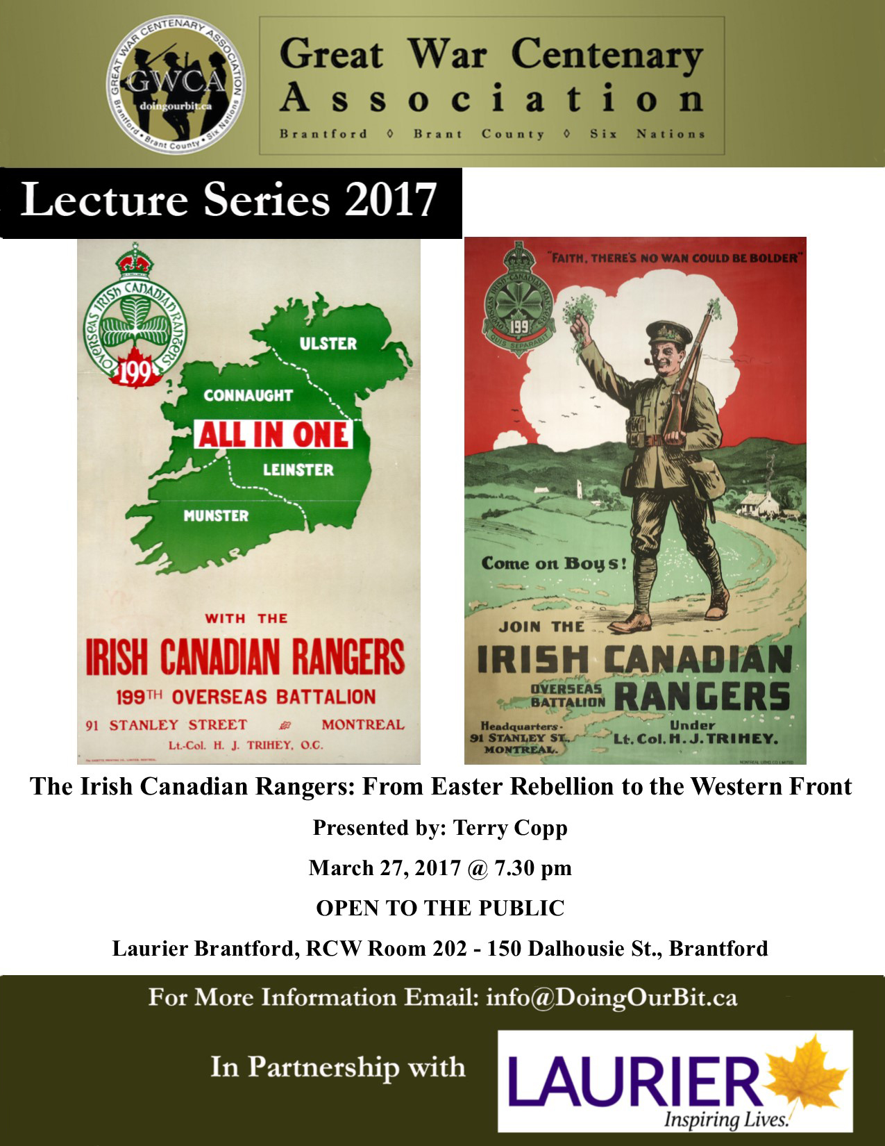 Doing Our Bit - Irish Canadian Rangers