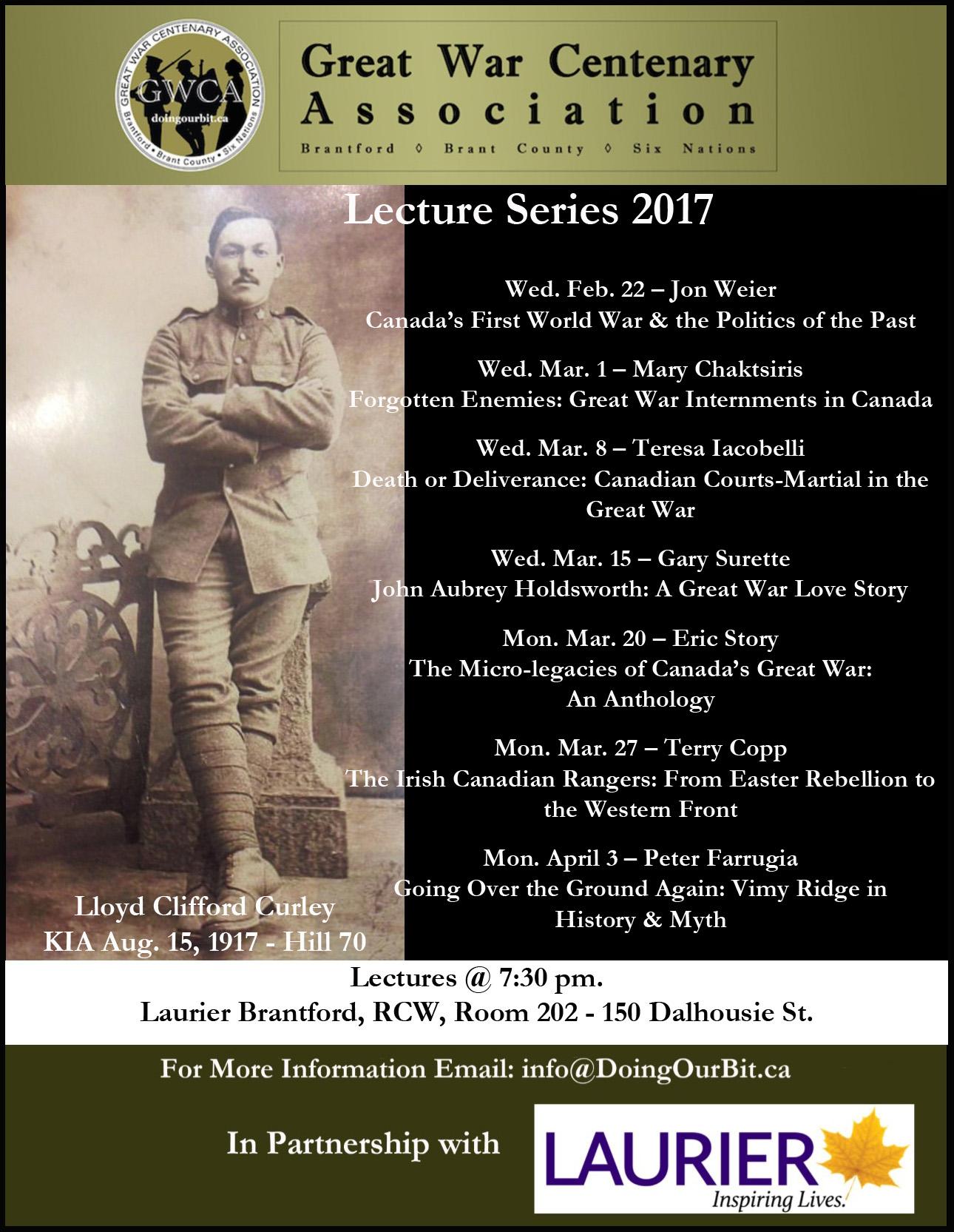 Doing our Bit - Great War Centenary Association - First World War, Brant County, Ontario