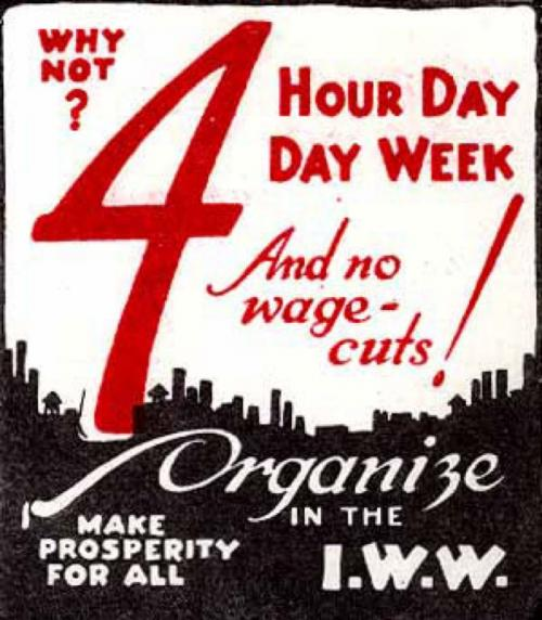 4 hour work day poster from 1923