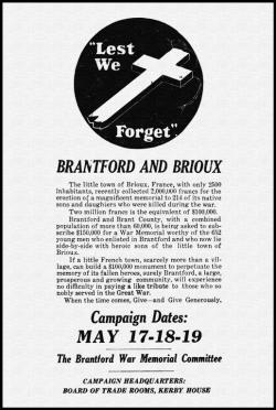 Brantford Cenotaph History