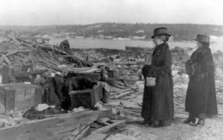 Halifax residents survey the damage