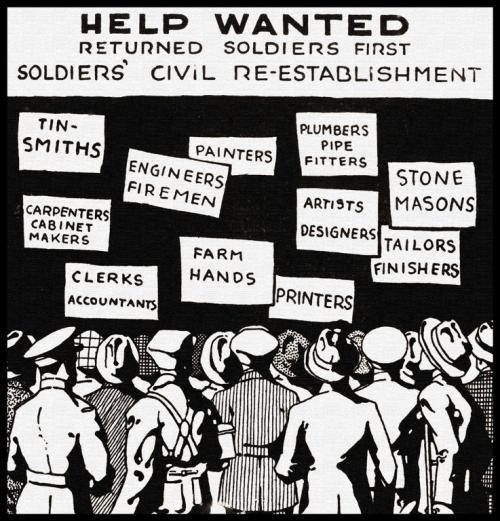 Help Wanted Poster Post WWI