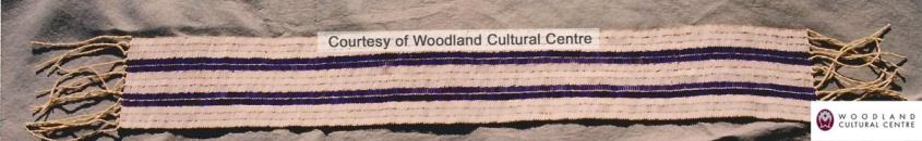 two row Wampum belt
