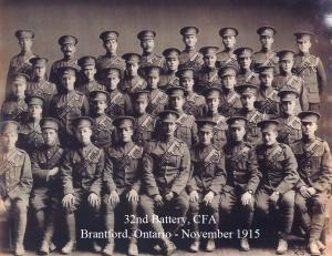 Doing Our Bit - Brantford, Ontario 32nd Battery Canadian Field Artillery