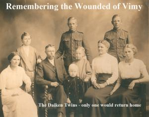 100th Anniversary of Vimy Ridge - Doing Our Bit.  Arthur and Arden Daiken