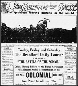 Battle of the Somme - Colonial Theatre Brantford