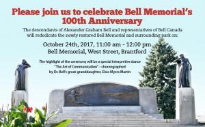 Bell Memorial Re-dedication Ceremony, October 24, 2017