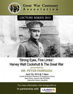 Harvey Watt Cockshutt - Great War Centenary Association - Brantford, Brant County, Six Nations - First World War