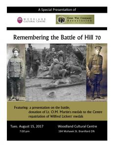 Remembering Hill 70 - Six Nations, Ontario - 114th Battalion CEF