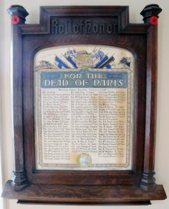 Paris, Ontario, Roll of Honour - 1914-1918